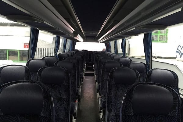 Interior of a bus